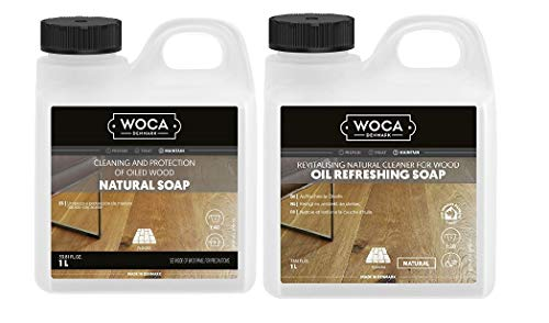 Woca Maintenance Sets 1 Liter (1 x Natural Soap 1 liter, 1 x Oil Refresher Natural 1 liter))