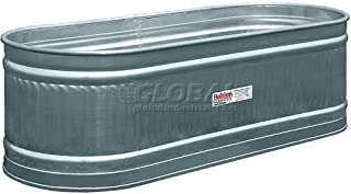 Behlen Country Galvanized Stock Tank Round End Approximately 210 Gallon Livestock Watering Outdoor Garden Pool