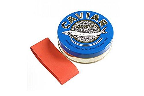 Kaviardose - dunkelblau, mit Verschluss-Gummi, ø 10 cm, für 250g Kaviar, 1 St