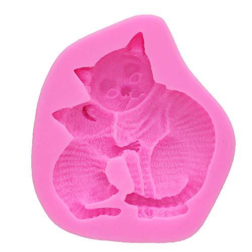 iceBoo Stampo in Silicone 3D Cat Form Strumenti per Decorare Torte al Cioccolato Utensili per Pasticceria da Cucina Stampi Confeitaria da Forno