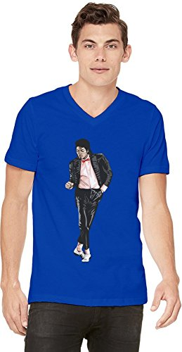 Michael Jackson King Of Pop Art Mens V-neck T-shirt XX-Large