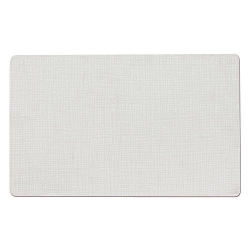 TABLE PASSION - Set de Table en PVC Souple 43,5x28,5 Blanc (Lot de 2)
