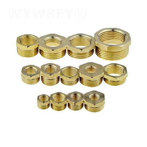 ooege OOE 1pc Brass Hex Hexhing Buje Reducedor de tubería (Color : Female 01 Male 04)