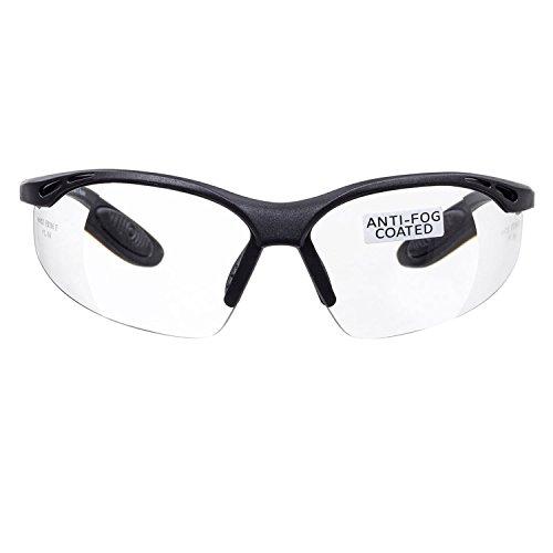 voltX 'Constructor' Schutzbrille Volle Linsenvergrößerung (nicht bifokal) +1,00 Dioptrien– farblos, LESERSCHUTZBRILLE Vergrößerung linse Schutzbrille mit Lesehilfe + Anti Fog UV400 Linse