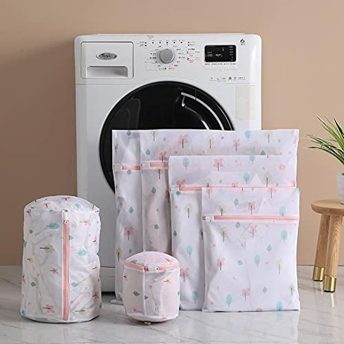 MOVKZACV 6 bolsas de malla para lavar a máquina con cremallera, reutilizables y duraderas bolsas de malla para ropa delicada, calcetines, ropa interior, sujetador, ropa interior y ropa de bebé
