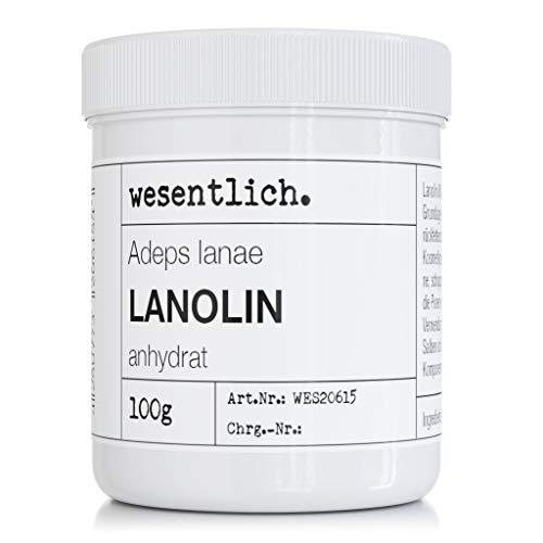 Lanolin Wollfett anhydrat 100g - wasserfrei und kaum Geruch - Wollwachs von wesentlich.