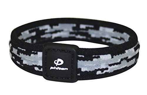 Phiten Digital Camo Titanium Bracelet, Night, 6.75-Inch -  LD0011