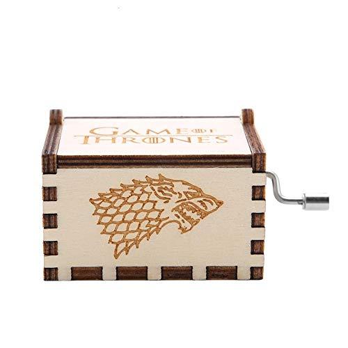 MAGT Carillon Game of Thrones, Carillon Meccanico a manovella in Legno splendidamente Intagliato per Regalo di Compleanno(Game of Thrones)