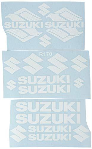 Ecoshirt 41-DOK1-UC4J Pegatinas Moto Rgsx Suzuki R170 Stickers Aufkleber Decals Autocollants Adesivi, Blanco