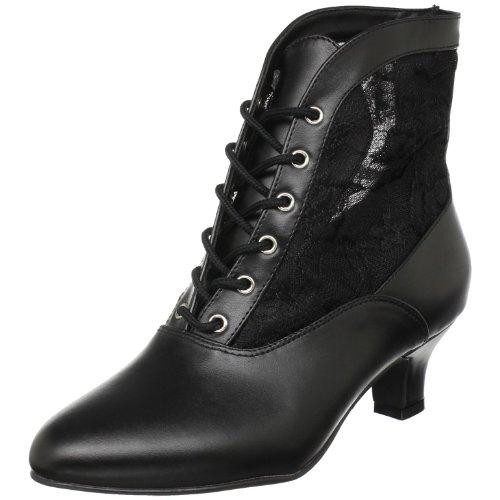 Funtasma by Pleaser Women's Dame-05 Ankle Boot,Black Polyurethane,10 M US