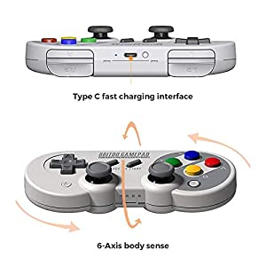 SF30 Pro Wireless Bluetooth Controller with Joysticks Rumble Vibration Gamepad for Nintendo Switch Mac PC Android Windows macOS Steam