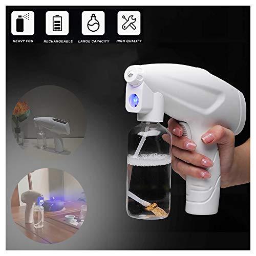 Nebulizador desinfectante, pulverizador desinfectante de mano inalámbrico con batería de litio de 4800 mAh, nanovapor, atomizador desinfectante portátil para desinfección de interiores y exteriores