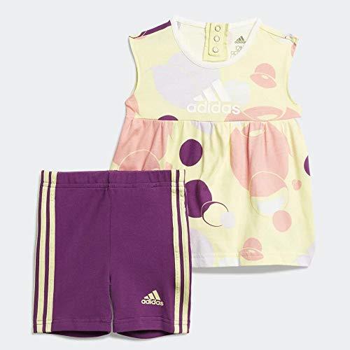 adidas I St Sum Set G Conjunto Deportivo, Unisex bebé, matama/purglo/Matpur/Rosglo, 80 (9/12 Meses)