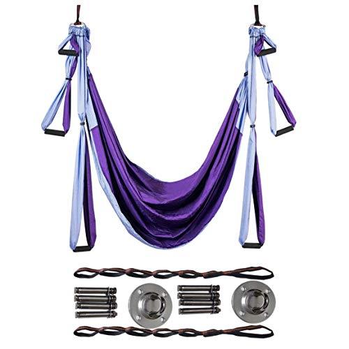 Nrpfell Juego de Columpios de Yoga AéReo Hamaca de Yoga Interior Antigravedad Colgante de Yoga Herramientas de Yoga