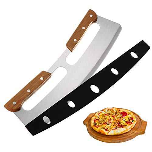 Pizza Cutter,Stainless Steel Rocker Chopper Suitable for Cakes All Types of...