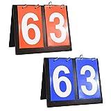 Shangyuan Portable Flip Scoreboard - Score Board for Baseball Football Cornhol Soccer Ping Pong Football...