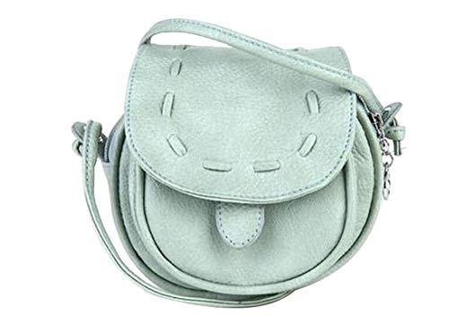 Betrothales Tm Süß Pu Leder Weich Casual Chic Schultertasche Umhängetasche Shoulder Bag Mädchen Vintage Elegant Festlich Taschen (Color : Mintgrün, Size : One Size)