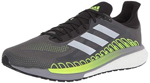 adidas Unisex Solar Glide ST 3 Running Shoe, Grey Five/Silver Metallic, 9.5 US Men
