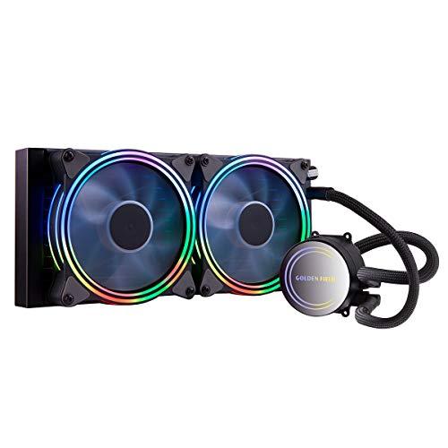 GOLDEN FIELD ICY Chill Series CPU Kühler 240mm AIO Wasserkühlung RGB Liquid Cooler mit Kühler Wasser Kühlsystem für Desktop-PC Intel AMD Sockel