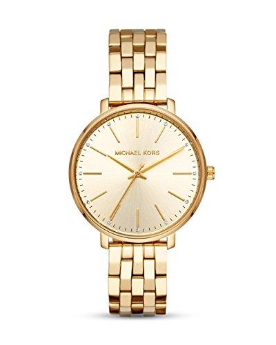 Michael Kors Damen Analog Quarz Uhr mit Edelstahl Armband MK3898