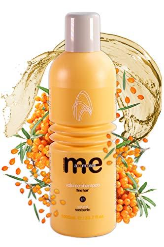 MeMademoiselle Volume Shampoo para cabello extrafino I Champú de queratina Champú de volumen y cuidado con bayas de espino amarillo I Made in Germany (1000 ml)