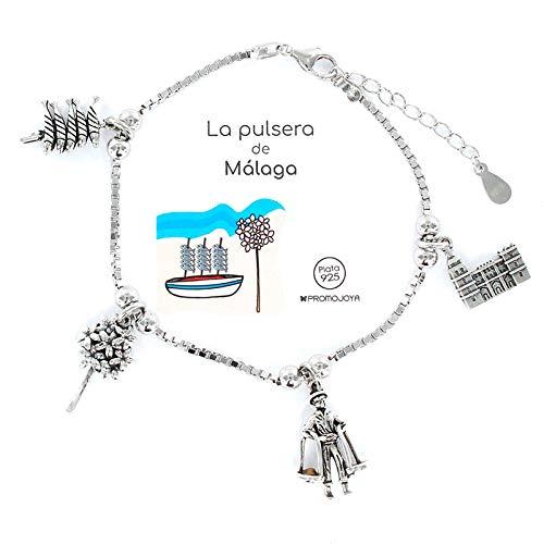 Eres lo mas mujer Pulseras Ciudades, Comunidades Autónomas y Paises Plata (Malaga)
