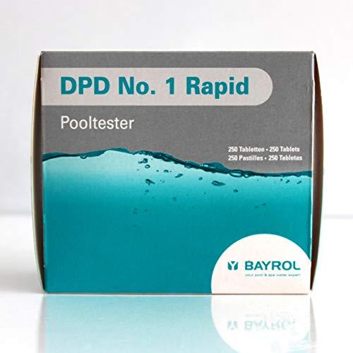 Bayrol DPD 1 - Lot de 250 pastilles de test de chlore - Pour testeur de piscine