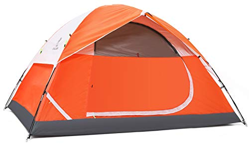 CAMEL CROWN Camping Dome Tent for Hiking,Waterproof Windproof Backpacking Hiking Tents,Easy Set up Lightweight Tents,for Outdoor Camping/Hiking/Traveling (Orange-3/4 Person)