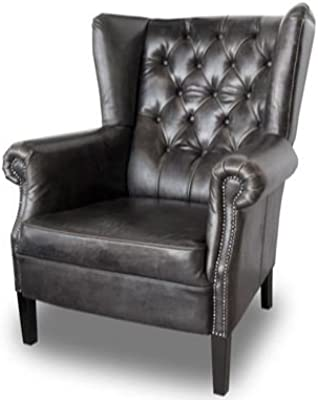 Casa-Padrino Luxury Genuine Leather Armchair Brown 92 x 97 x ...