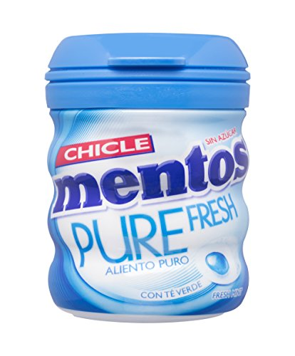 Mentos Chicle Sin Azúcar Pure Fresh Bote con Sabor a Menta - 60 gramos
