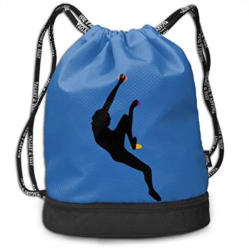 Etryrt Turnbeutel/Bedruckte Sportbeutel, Premium Drawstring Gym Bag Rucksack, Drawstring Backpack with Pocket Multifunctional Sturdy Rock