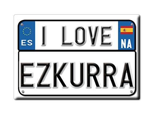 Enjoymagnets EZKURRA Souvenir IMANES DE Nevera Reino Unido Comunidad Foral DE NAVARA IMAN Fridge Magnet Corazon I Love (VAR. Targa)