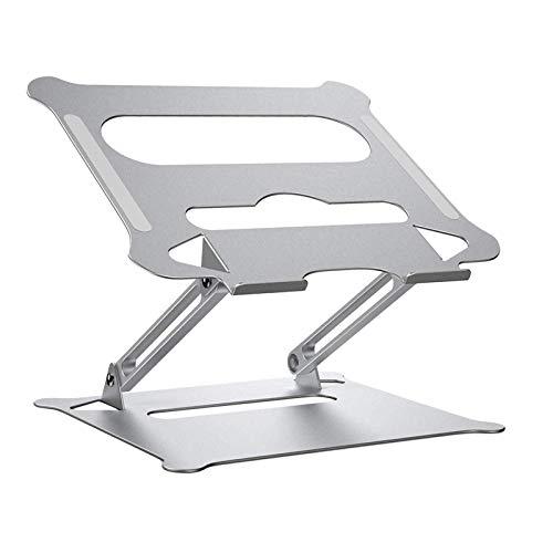 #N/A/a Soporte portátil para portátil de Viaje portátil Soporte para Tablet de Aluminio Plegable, Altura y ángulo Ajustable - de Plata