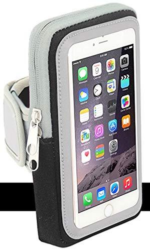 Sport-Armband Oberarm Tasche passend für Sony Xperia X Compact / XZ1 Compact / XZ2 Compact Handy Halterung Fitness-Hülle, Tasche mit großem Fach Jogging, Dealbude24 Arm-Tasche Klein Schwarz