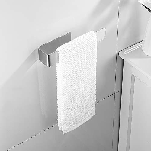 Anello Portasciugamani 3m Adesivo Porta Salviette Bagno da Parete in Acciaio Inox Cuscinetto 3 KG per Mobile da Bagno Cucina Muro 23CM