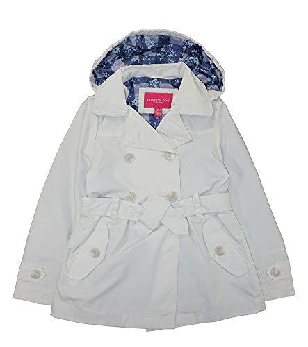 LONDON FOG Girls Radiance Trench Coat (Light Khaki, 10/12)