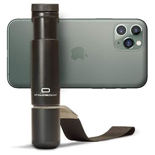 Shoulderpod S1 – Professionelle Smartphone-Vorrichtung, Stativ-Befestigung sowie Filmer-Handgriff für das Fotografieren und Filmen mit jedem iPhone und Android-Handy.