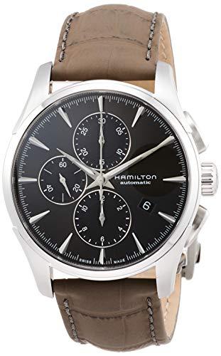 Reloj Hamilton Jazzmaster Automático Chrono Gris Piel Gris H32586881