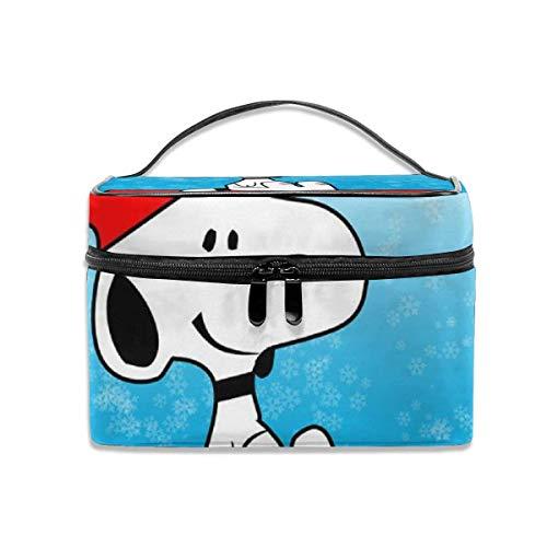 Snoopy - Neceser de viaje portátil para maquillaje, organizador de cosméticos,...