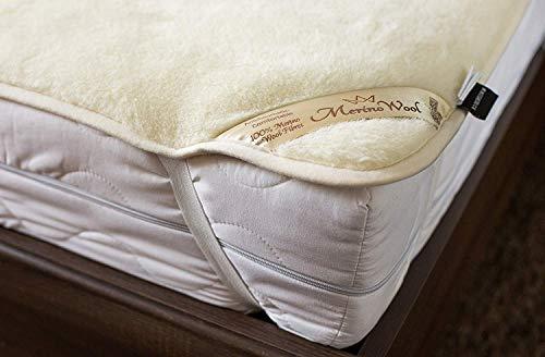 Naturhaar doppel Unterbett 100% Merino Wolle unterbett 140 x 200 cm Kaschmir Schurwolle Matratzenauflage Elegance Light Neuseeland