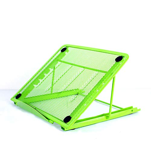 Baobeir Mesh Ventilated Adjustable Laptop Stand for Laptop/Notebook/iPad/Fire 7/Fire 8/Fire 10/Samsung Tab/Tablet and More (Green)