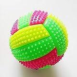 DASNTERED Bola Que rebota con luz Intermitente LED, Voleibol Que Cambia de Color, Bola de Punta de Masaje Bola de Juguete para niños de Voleibol de Erizo exprimible