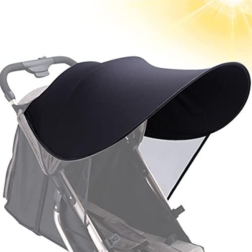 LORESJOY Parasol para Cochecito, Funda para Cochecito de Bebé, Carrito de Bebé Sillas de Paseo Sombrilla, Parasol Protección UV contra el Viento a Prueba de Lluvia con Malla