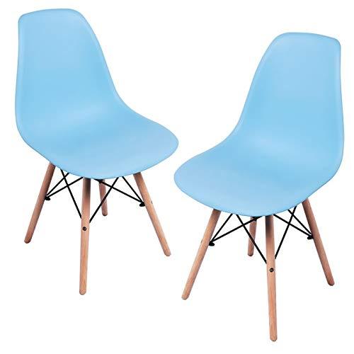 Regalos Miguel - Packs Sillas Comedor - Pack 2 Sillas Tower Basic - Azul Celeste - Envío Desde España