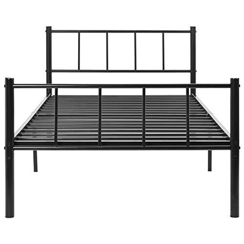 Monifuon Metall-Bettrahmen für Einzelbett, 91 cm, robustes Plattform-Bett mit...