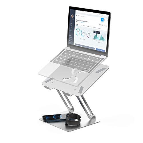 BlitzWolf Laptop Ständer, Multi-Winkel Einstellbar Notebook Computer Ständer Aluminium Laptopständer Faltbar Belüftet Kompatibel mit MacBook Pro Air, Dell, iPad, HP, Lenovo, 10