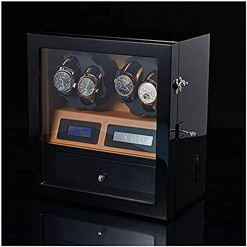 Oevina Caja de Reloj Gabinete de Reloj Mecedo Winder automá