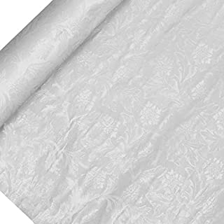 Premium Floral Foil Wrapping Paper - 20 Feet by 10 Yards (White)