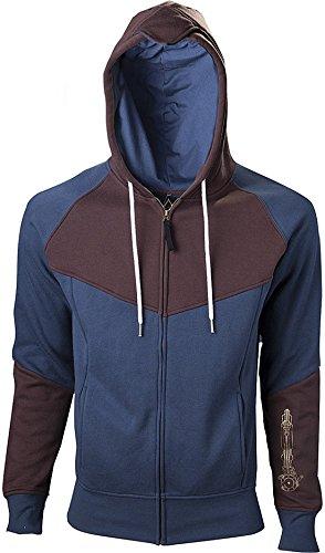 Import Europe - Sudadera Hoja Oculta Assassin's Creed Unity, Talla M, Color Azul/Marrón