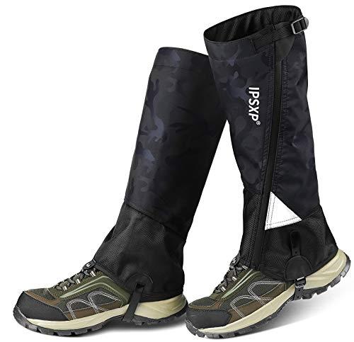 IPSXP Outdoor Gamaschen, wasserdichte Gamaschen für Schnee Beine Reißfeste, mit Reißverschluss,Atmungsaktiver Beinschutz aus Oxford-Nylon, geeignet für Menschen Reisen Jagd Camping Skifahren (M)